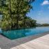 Toepassing bij strakke, moderne zwembaden.